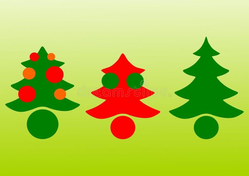 Weihnachtsbaumvektor lizenzfreie abbildung