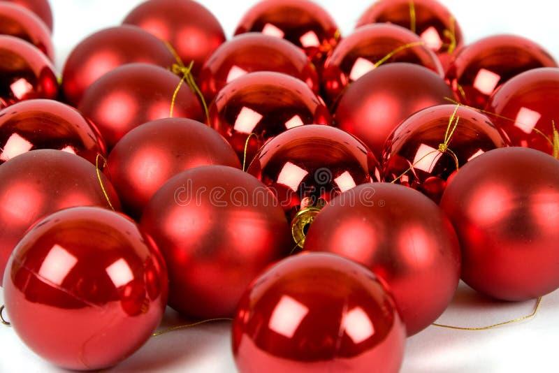 Weihnachtsbaumverzierungen stockfotos