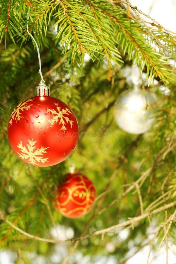 Weihnachtsbaumverzierungen lizenzfreie stockfotos
