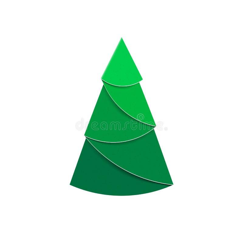 Weihnachtsbaumzeichen machte vom Papier für Dekorationen und Entwurf lizenzfreie abbildung