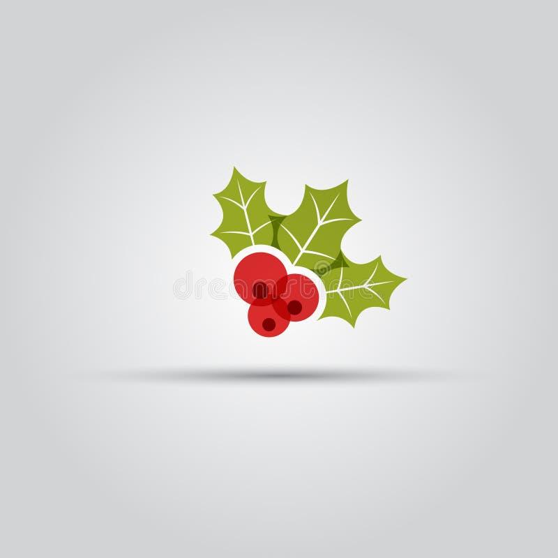 Weihnachtsbeeren lokalisierten Vektor farbige Ikone lizenzfreie abbildung