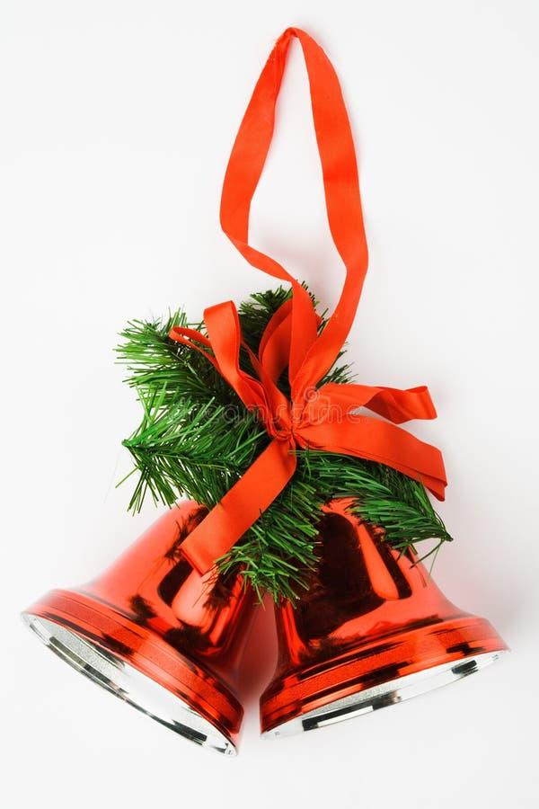 Weihnachtsbell-Dekoration stockfotos