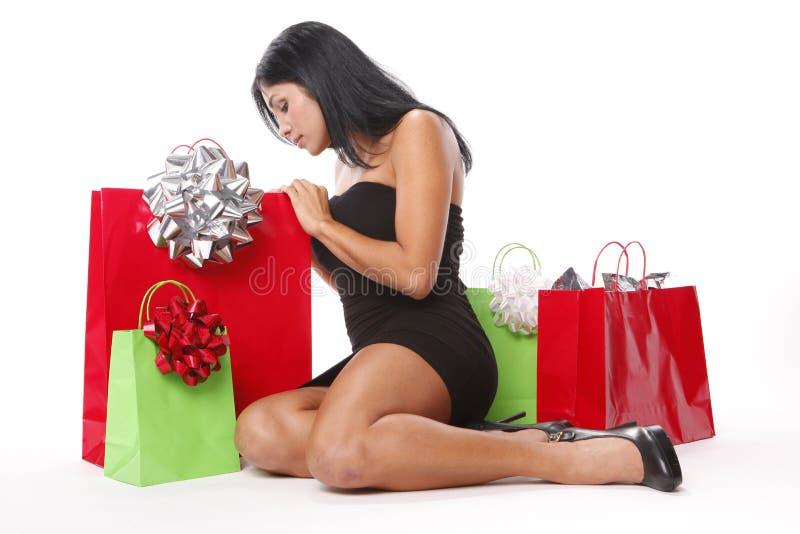 Weihnachtsbeutel lizenzfreie stockbilder