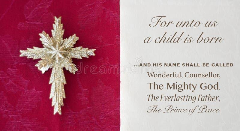 Weihnachtsbibelvers und -stern lizenzfreies stockfoto