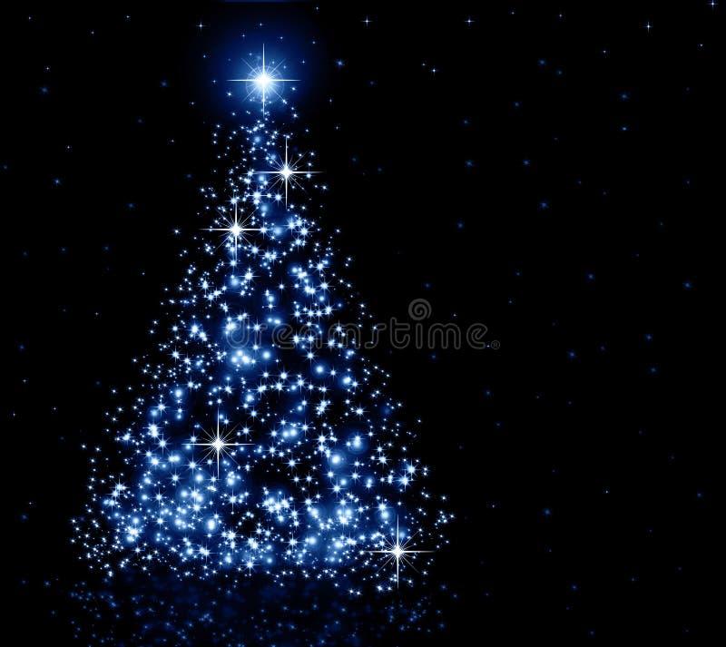 Weihnachtsblaubaum stock abbildung