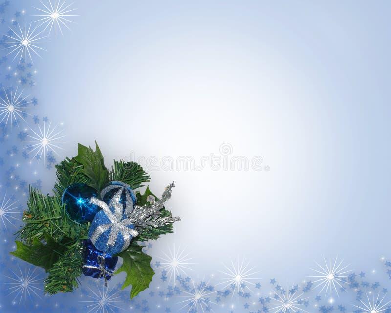 Weihnachtsblaue Eckverzierung