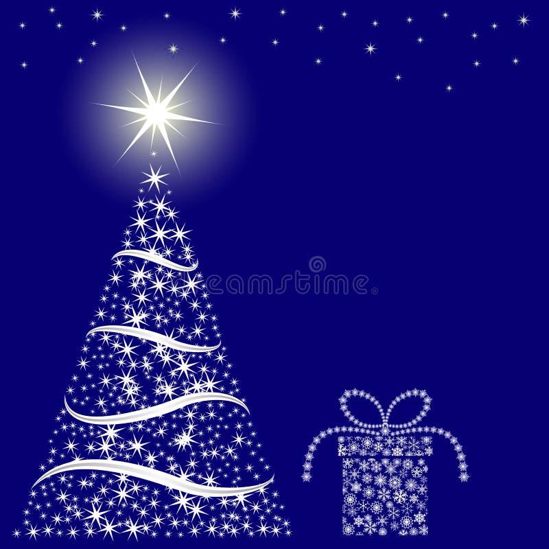 Weihnachtsblauhintergrund Stockfoto