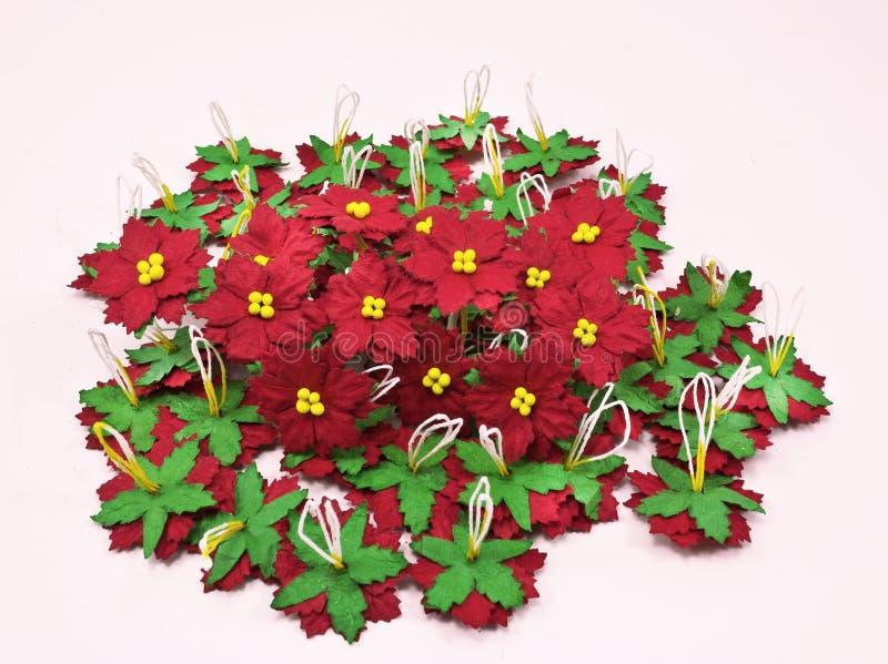 Weihnachtsblumen-Papierweiß. Papier Machte Blumen Stockbild - Bild ...