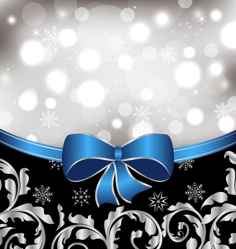 Weihnachtsblumenhintergrund, dekorative Elemente lizenzfreie abbildung