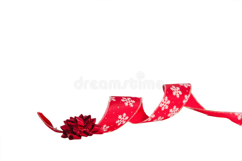 Weihnachtsbogen und -farbband stockbild