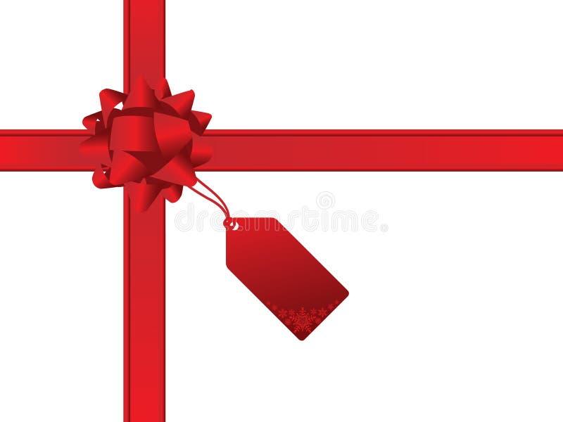 Weihnachtsbogen und Geschenkkarte stock abbildung