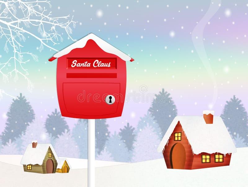 Weihnachtsbrief im Winter lizenzfreie abbildung