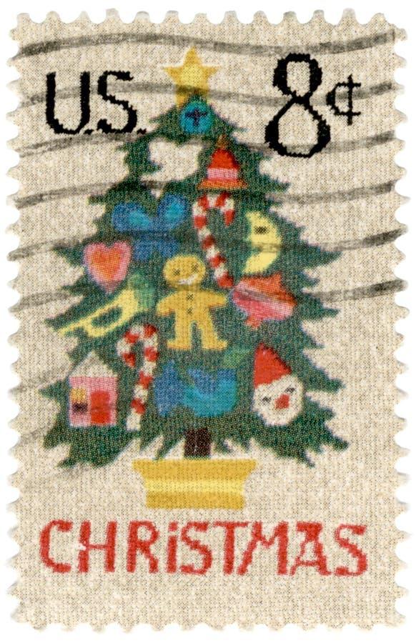 Weihnachtsbriefmarke stockfotos