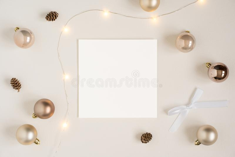 Weihnachtsbriefpapiermodell stockbild