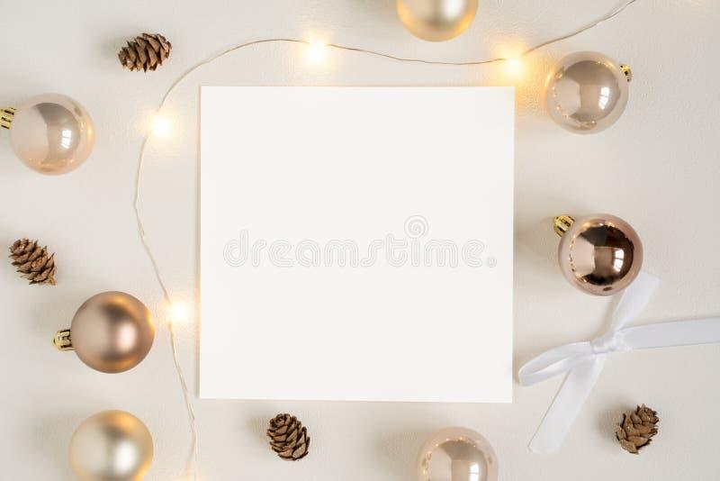 Weihnachtsbriefpapiermodell lizenzfreie stockfotografie