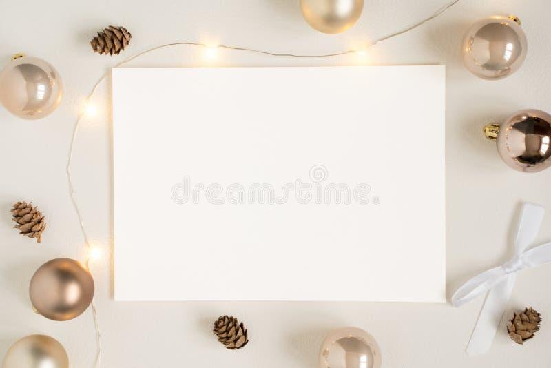 Weihnachtsbriefpapiermodell lizenzfreie stockfotos