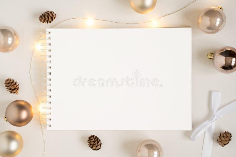Weihnachtsbriefpapiermodell stockfotografie