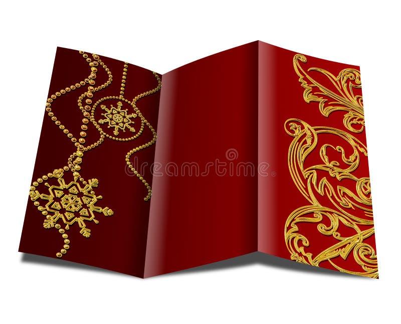 Weihnachtsbroschüre lizenzfreie abbildung