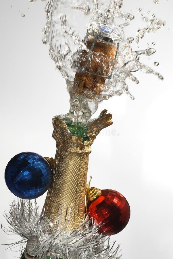 Weihnachtschampagner stockfotografie