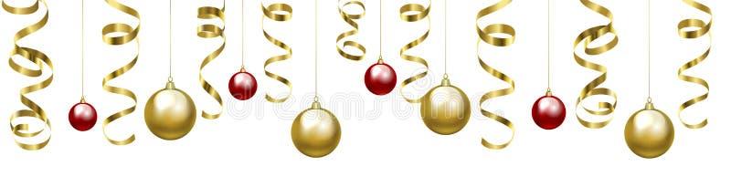 Weihnachtsclipart mit Flitter stock abbildung