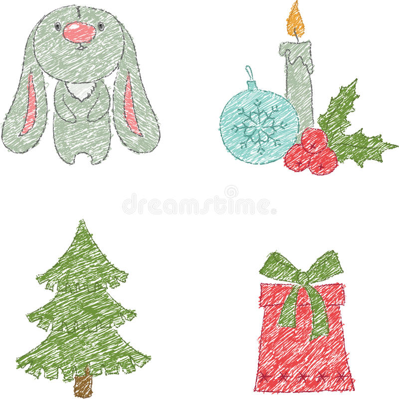 Download WeihnachtsClipartauslegung vektor abbildung. Illustration von grün - 27730429