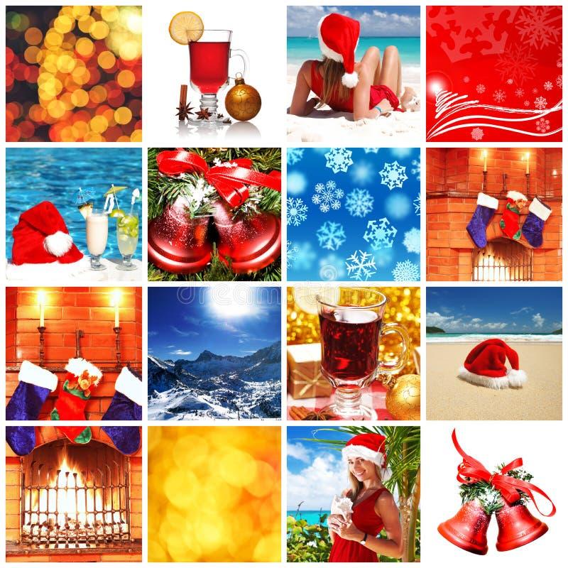 Weihnachtscollage lizenzfreie abbildung