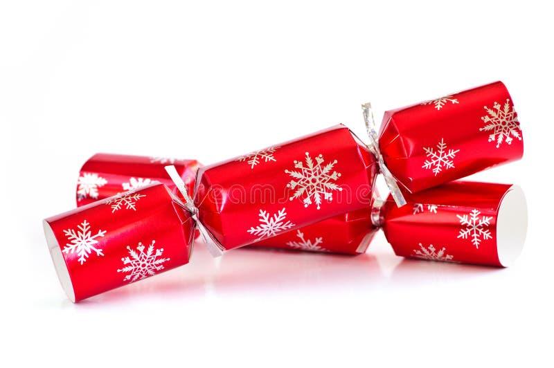 Weihnachtscracker stockfotos