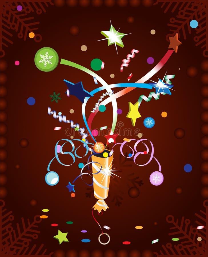 Weihnachtscracker vektor abbildung