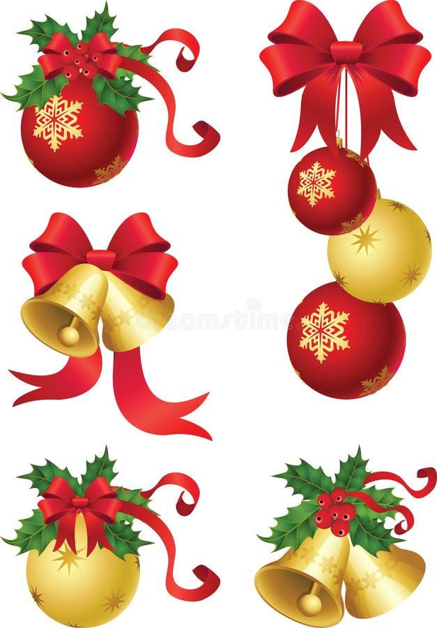 Weihnachtsdekor lizenzfreie abbildung