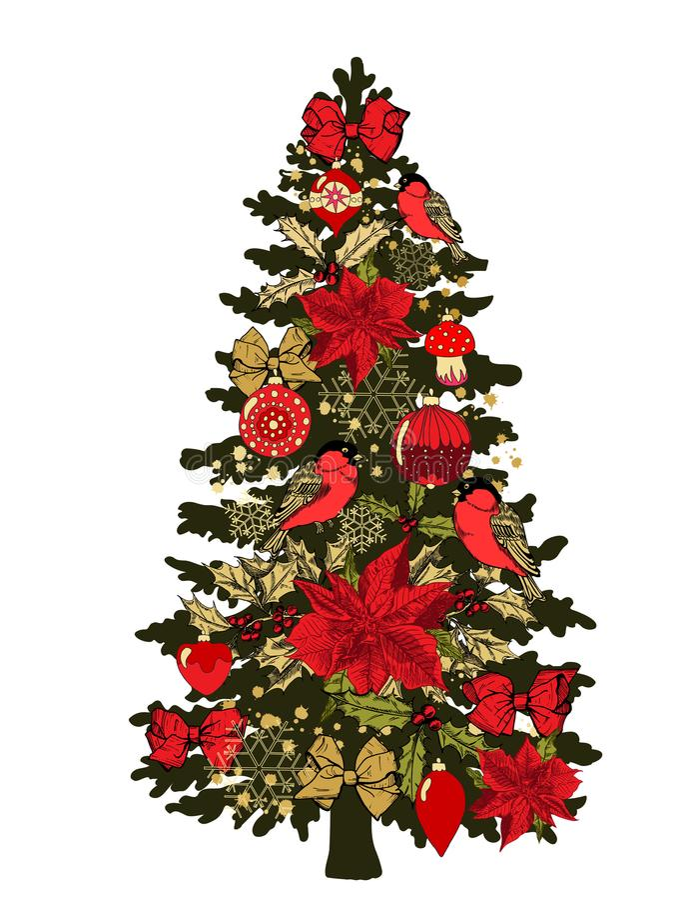 Weihnachtsdekoration #2 stock abbildung