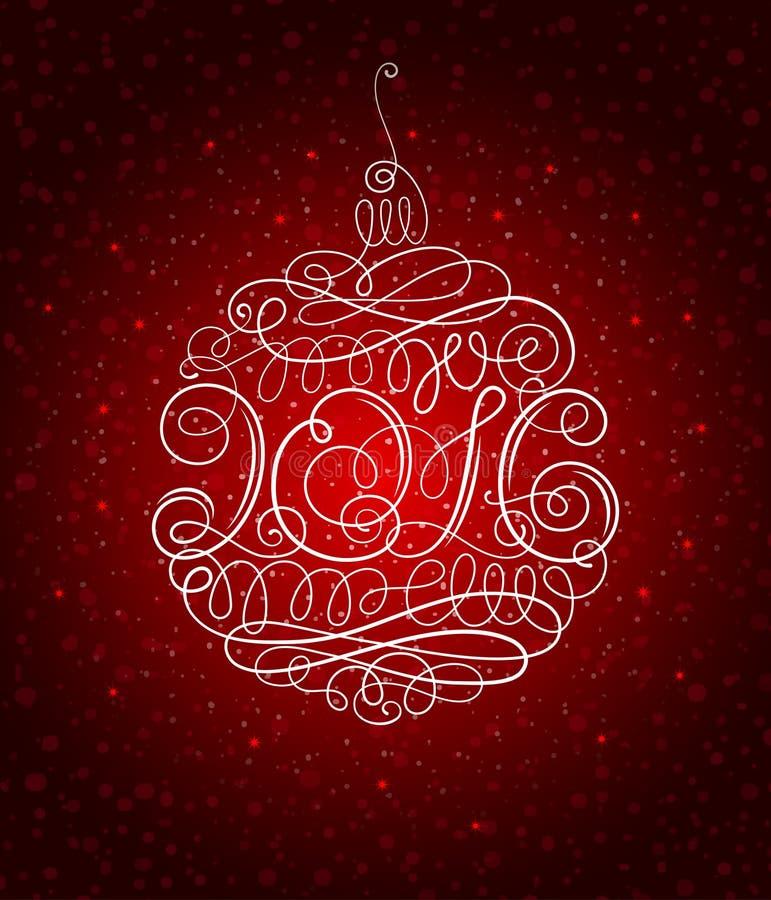 Weihnachtsdekoration 2016 lizenzfreie abbildung