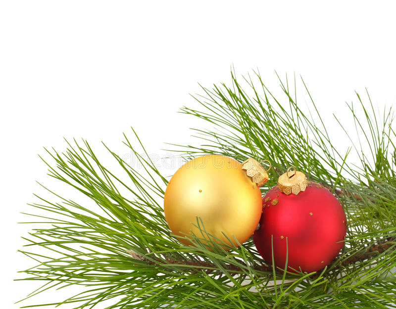 Weihnachtsdekoration auf dem weißen Hintergrund lizenzfreie stockfotografie