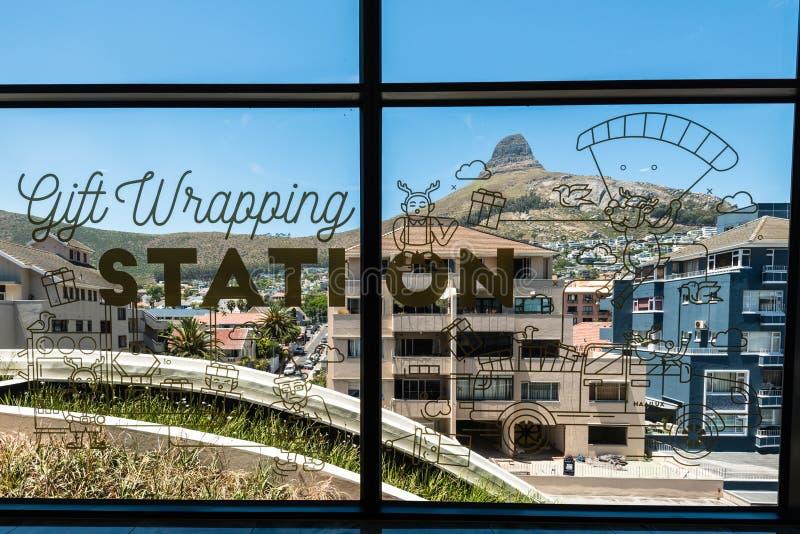 Weihnachtsdekoration in Cape Town, Südafrika lizenzfreie stockbilder