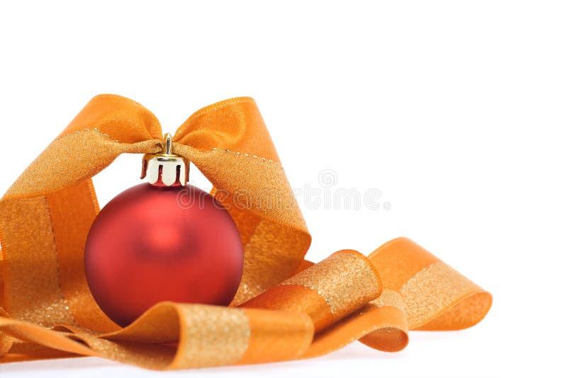 Weihnachtsdekoration in den roten und orange Tönen lizenzfreies stockfoto