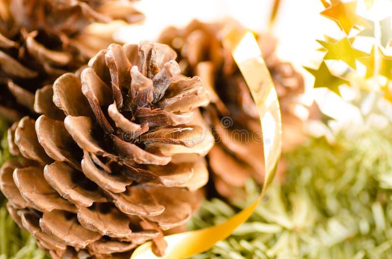 Download Weihnachtsdekoration Des Pelzbaums Und Der Kegel Stockfoto - Bild von grün, marry: 27735622