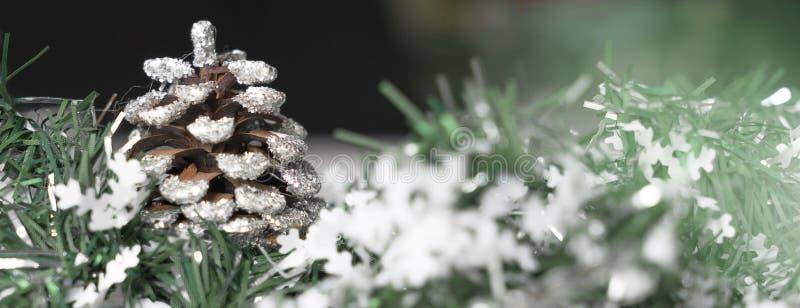 Weihnachtsdekoration für Fahne stockfotos