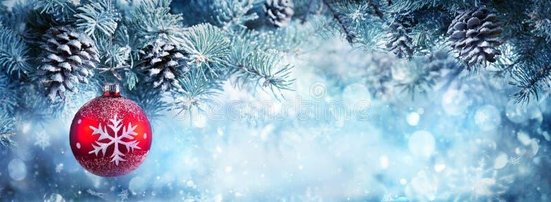 Weihnachtsdekoration für Fahne lizenzfreie stockfotografie