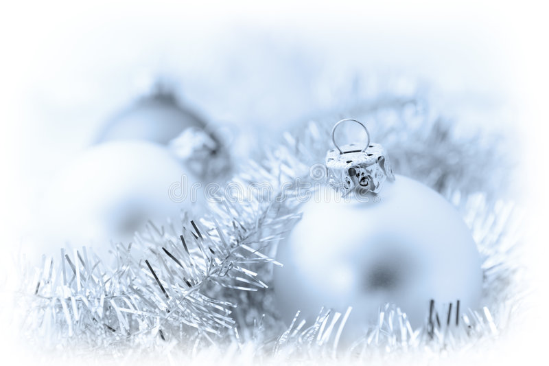 Weihnachtsdekoration-Flitter-Verzierung stockbild