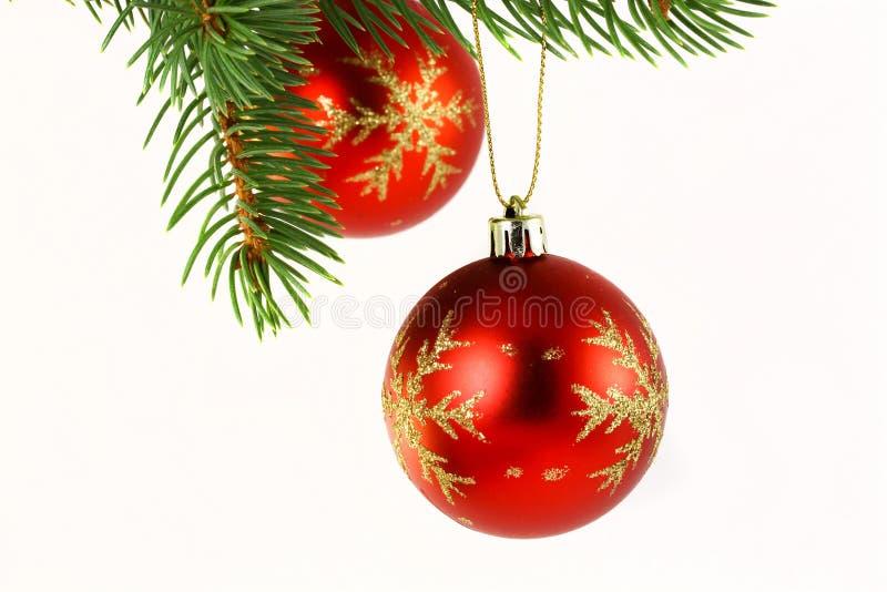 Weihnachtsdekoration getrennt auf Weiß lizenzfreie stockfotos