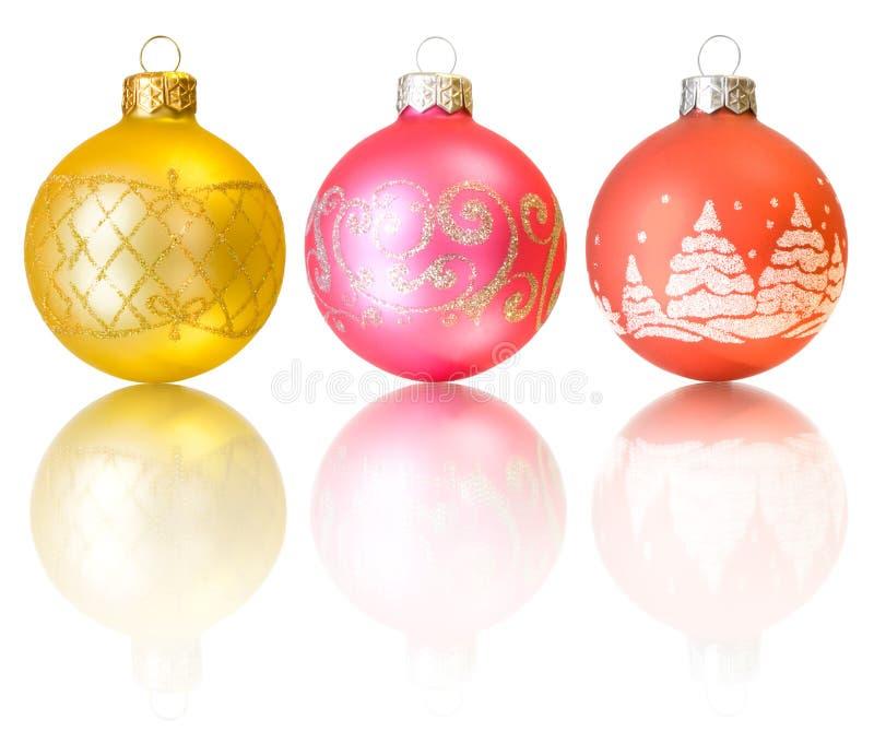 Weihnachtsdekoration getrennt worden auf Weiß lizenzfreies stockfoto