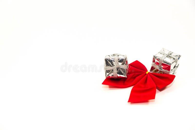 Weihnachtsdekoration, glänzende wenig giftboxes lizenzfreies stockbild