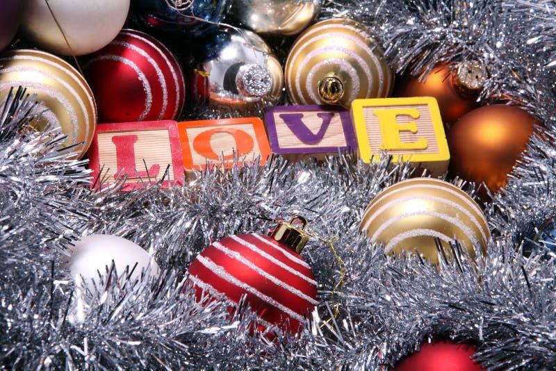 Weihnachtsdekoration, Liebe lizenzfreies stockfoto