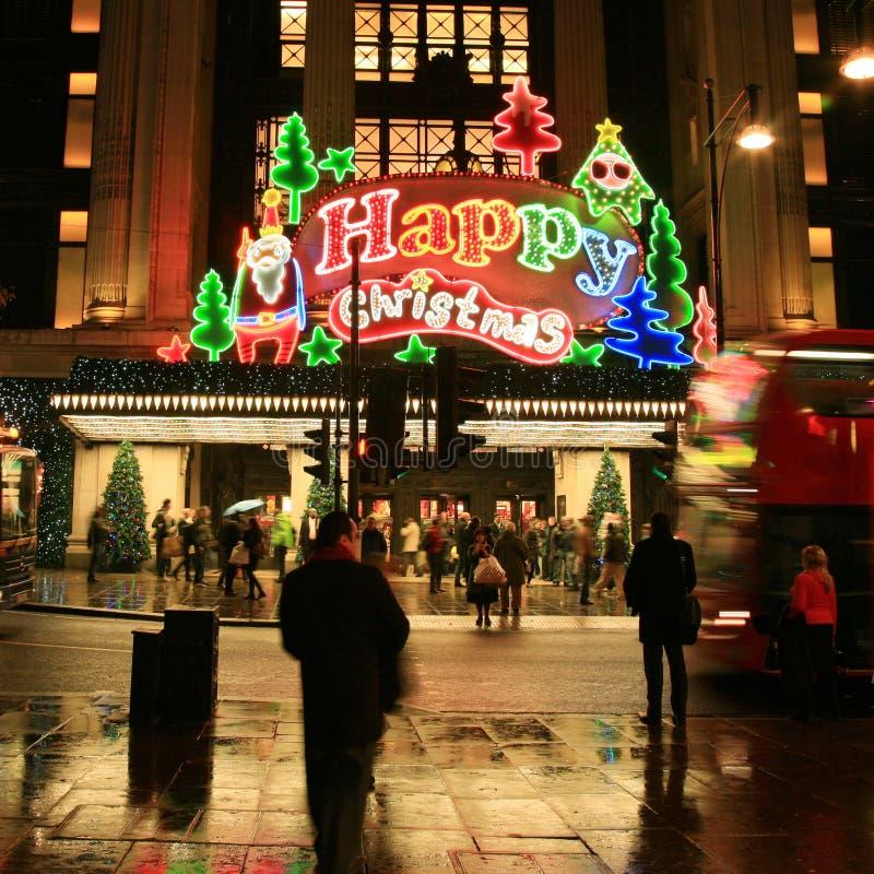 Download Weihnachtsdekoration In London Redaktionelles Foto - Bild von neon, nacht: 27729466