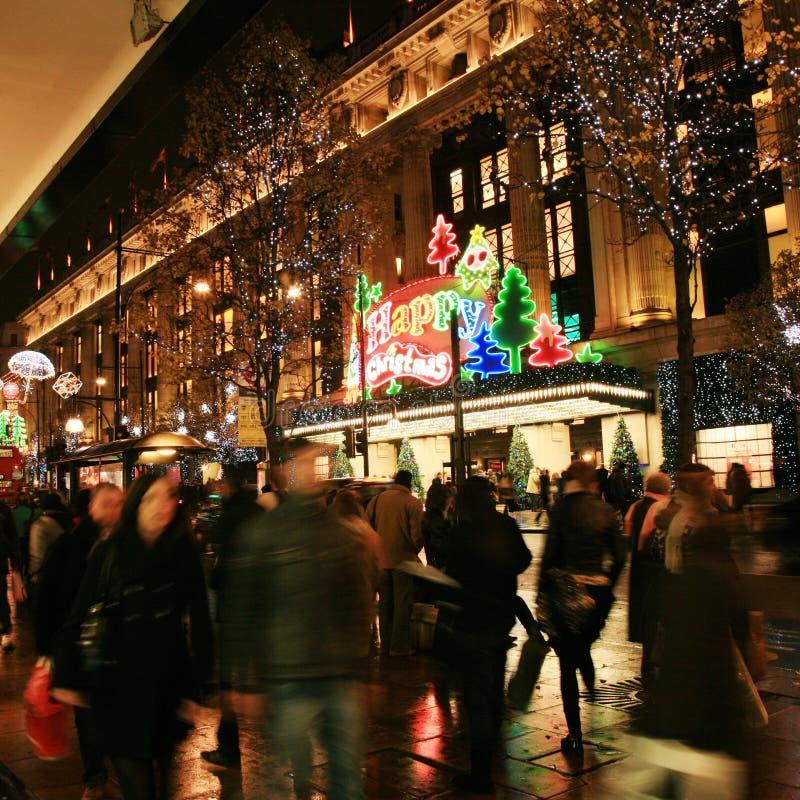Download Weihnachtsdekoration In London Redaktionelles Stockfotografie - Bild von neon, besetzt: 27729562