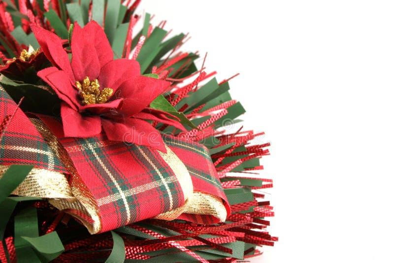 Weihnachtsdekoration mit Exemplar-Platz stockbilder
