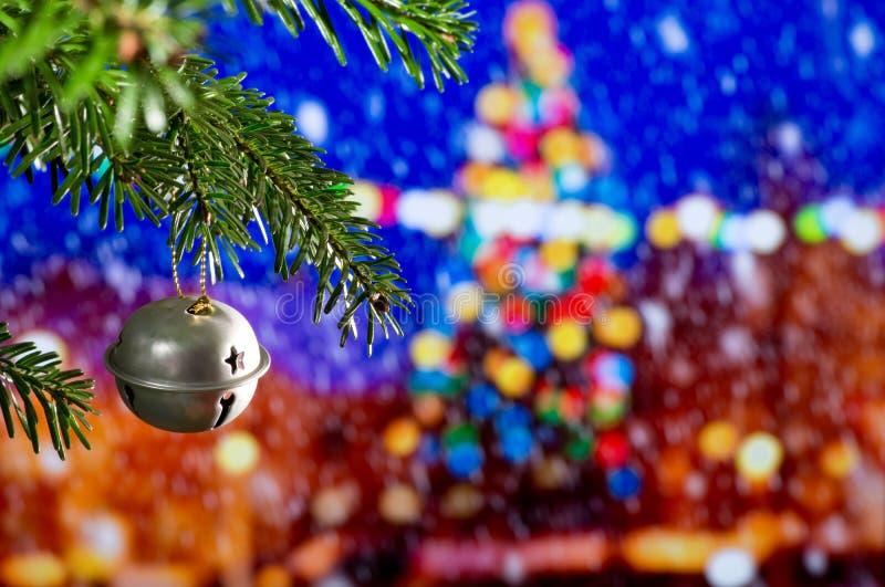 Weihnachtsdekoration mit Weihnachten Bell stockbilder
