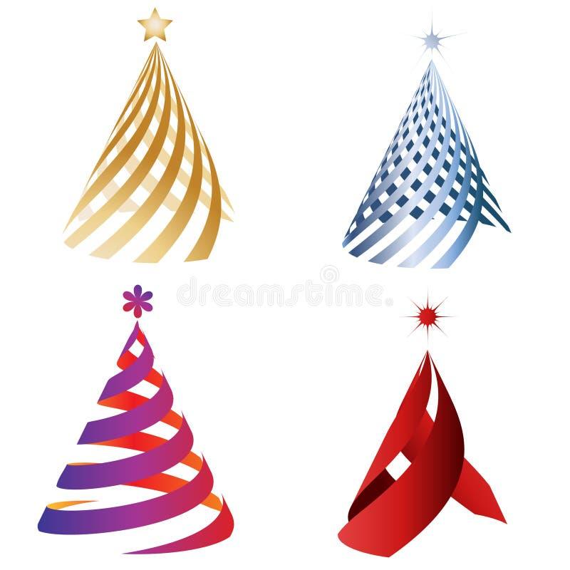 Weihnachtsdekorationbäume stockfotos