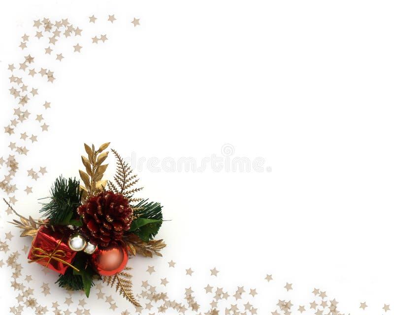 Weihnachtsdekorationecke lizenzfreie abbildung