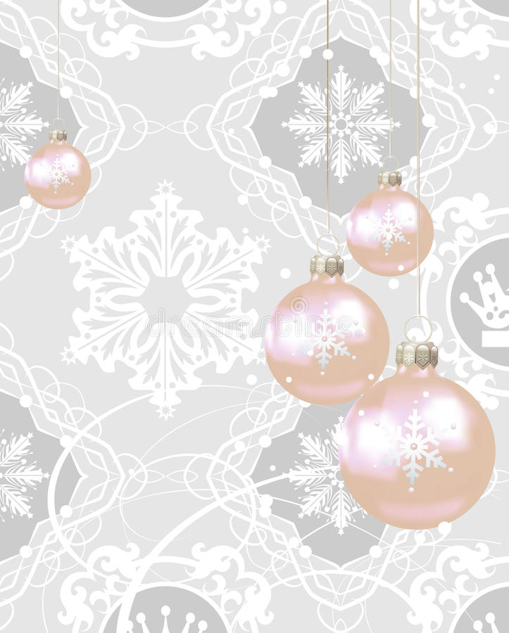 Download Weihnachtsdekorationen Auf Einem Grauen Hintergrund Stock Abbildung - Illustration von stern, bild: 26370978