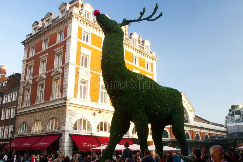 Weihnachtsdekorationen in London stockfotos